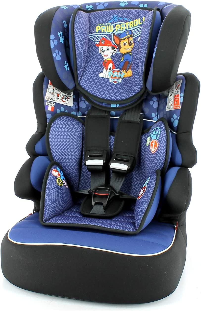 Paw Patrol Boy Nania Beline Group 1//2//3 Luxe Highback Booster Car Seat