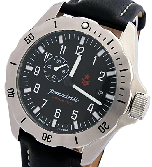 Vostok Militar ruso KOMANDIRSKIE K39 reloj negro 2416/390638: Amazon.es: Relojes