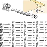 BITEFU Set van 40 meubelverbinders excentrieke kastverbinders Ø15 mm inschroefpluggen voor het splitsen van meubels kast…
