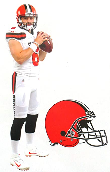 Image Unavailable. Image not available for. Color  FATHEAD Baker Mayfield  Mini Graphic + Cleveland Browns ... 70f80295b
