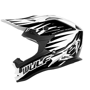 Wulf Advance Motocross Helmet L Black/White