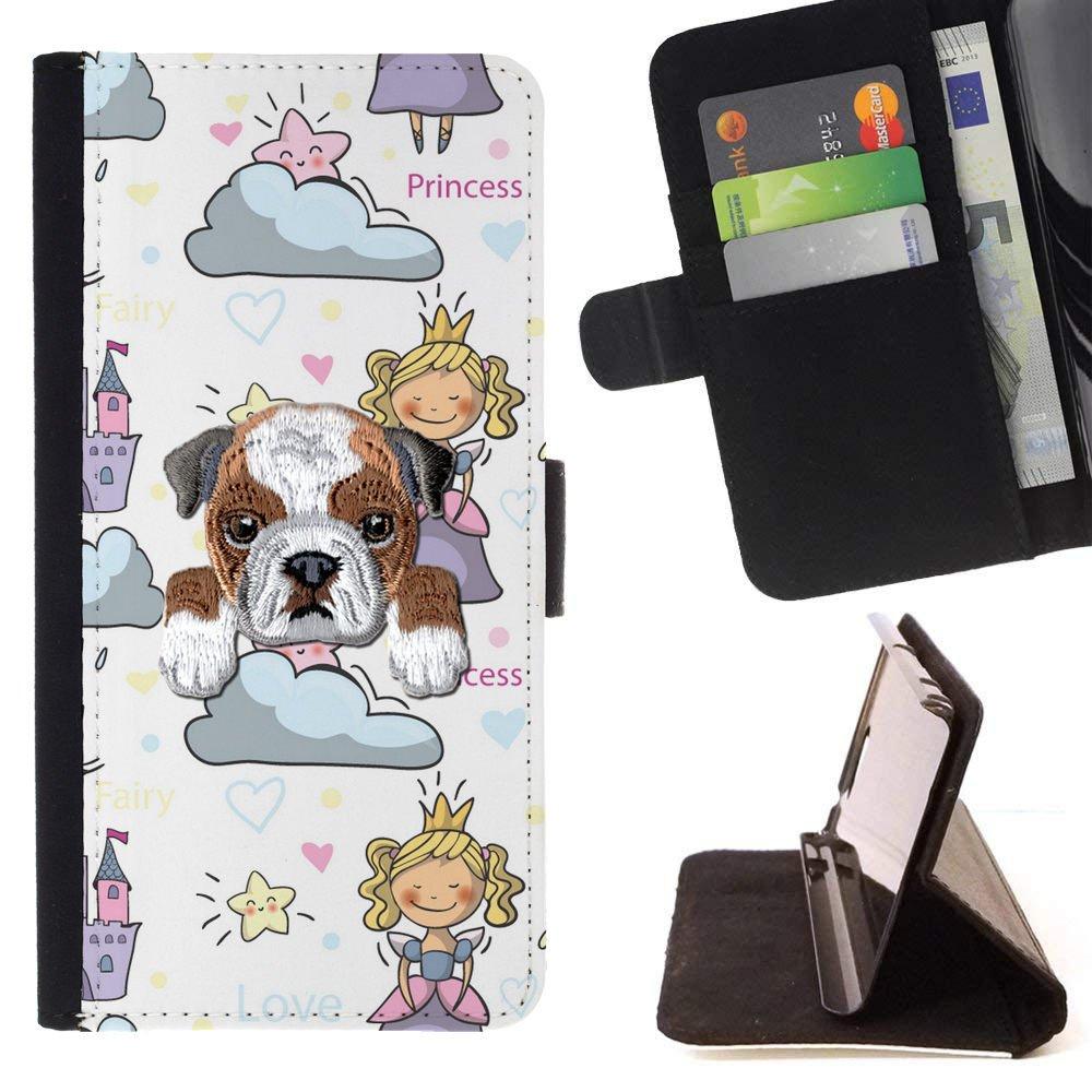 Amazon com: [ BULLDOG ] Embroidered Cute Dog Puppy Leather