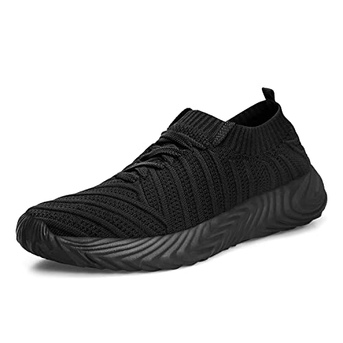 96e2e5b364d6a QANSI Men's Sneakers Breathable Lightweight Flyknit Mesh Lace Up Running  Shoes