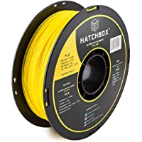 HATCHBOX PLA Filamento para impresora 3D, precisión dimensional +/- 0,03 mm, carrete de 1 kg, 1,75 mm, color amarillo