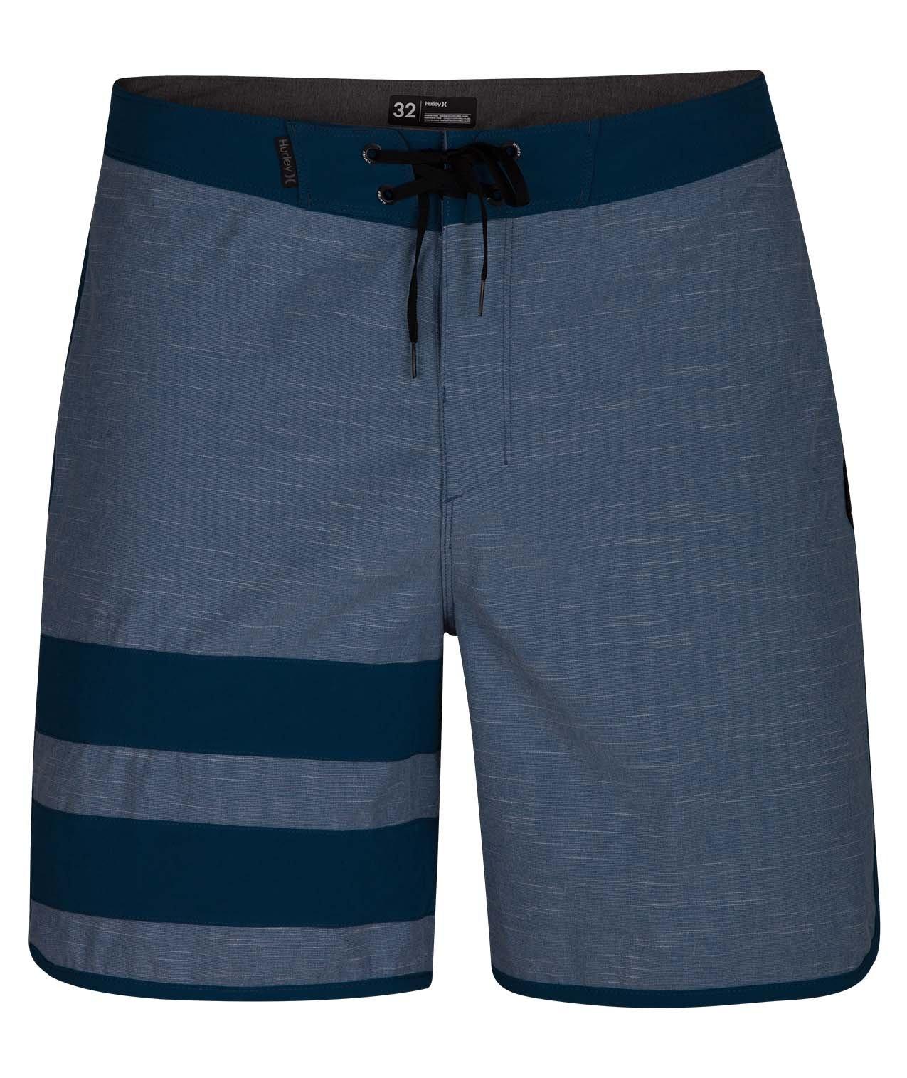Hurley Men's Phantom Block Party 18'' Swim Short Boardshort, Blue Force, 32