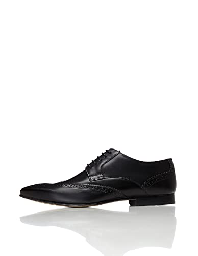 313a43f34 FIND Men s Brogues in Soft Leather with Wingtip Details  Amazon.co ...