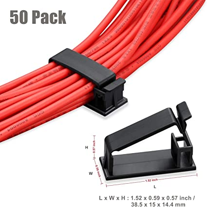 Ethernet Cable Organizer Conwork Adhesive Wire Management Clamps, Cable Clips