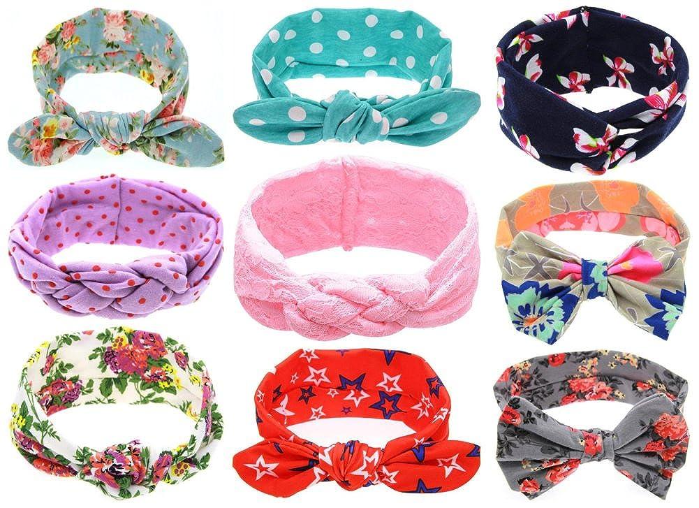 Qandsweet Baby Girl's Beautiful Headbands Elastic Hairband for Photograph HD4