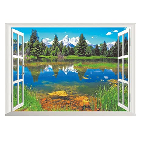 Well-liked Amazon.com: Charberry Home Decor Art Vinyl Fake Window New Mural  MO08