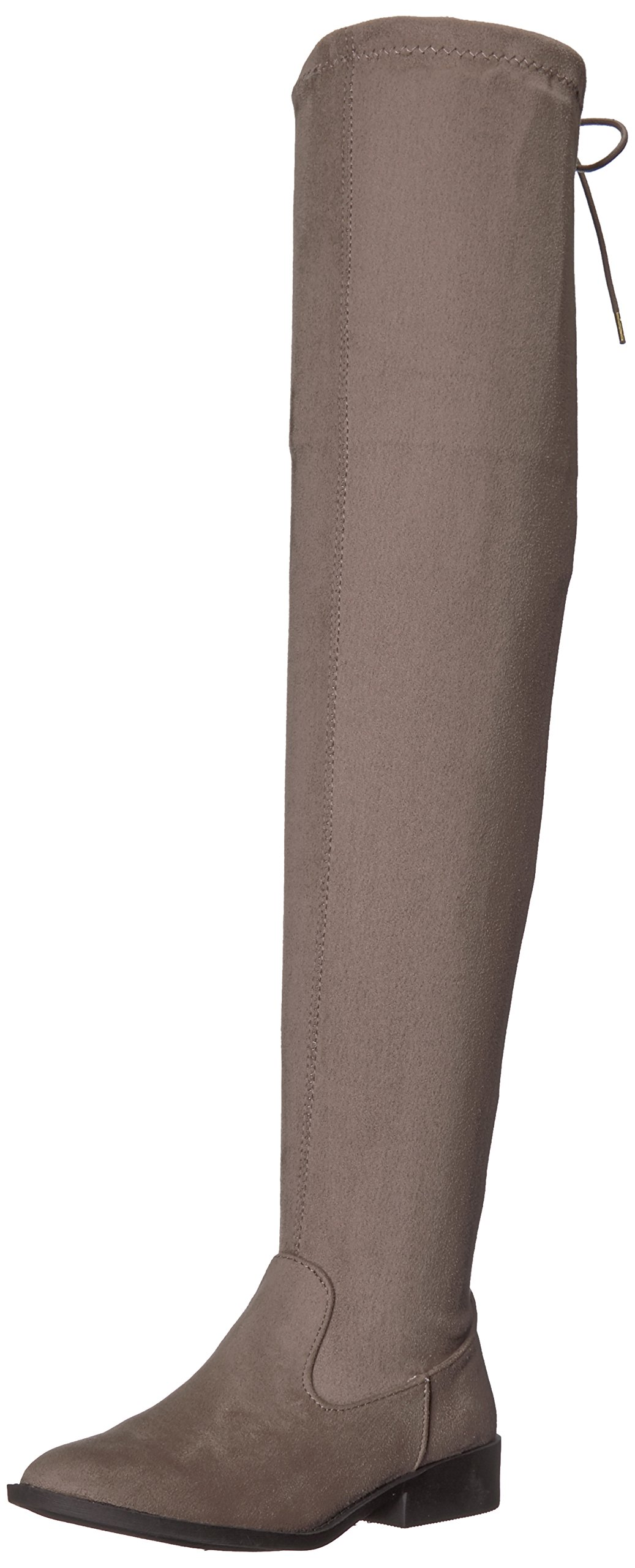 Qupid Women's Vinci-49XX Over The Knee Boot, Taupe, 7.5 M US