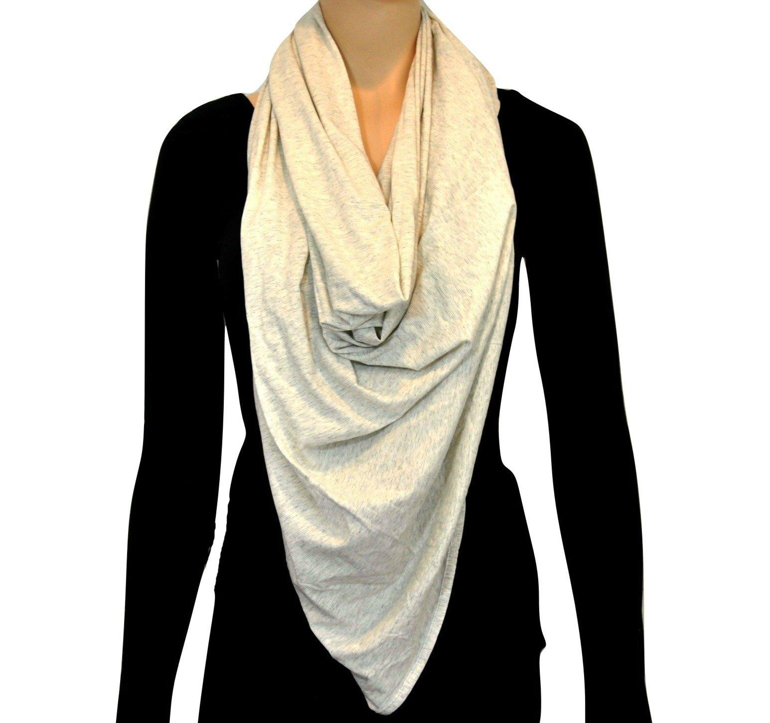 Lululemon Sage Scarf Wrap Cotton (Wee Stripe Heathered Light Grey White)