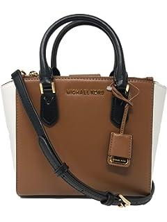 c625f13dccf Michael Kors Carolyn Small Soft Leather Tote Womens Bag (Black Luggage  Optic)