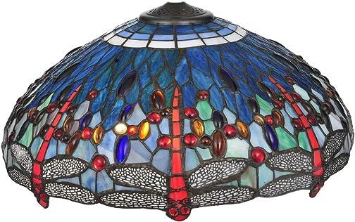 Meyda Home Indoor Decorative Lighting Accessories 60″H Tiffany Hanginghead Dragonfly Floor Lamp