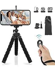 SYOSIN Handy Stativ, Flexibel Smartphone Stativ mit Bluetooth Fernsteuerung Shutter, Mini Reise Stativ Kamera-Stativ Ständer Halter für Kamera, Gopro, iPhone Sumsung und andere Android-Smartphone