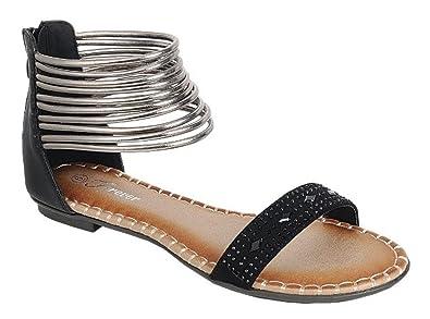 04ab397ed2b Women s Girls Casual Fashion Multi Color Beaded Flip Flop Roman Gladiator  Thongs Flip Flop Toe Post