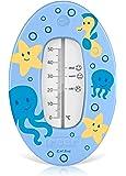 reer 24023 Badethermometer, Motiv Unterwasserwelt, blau