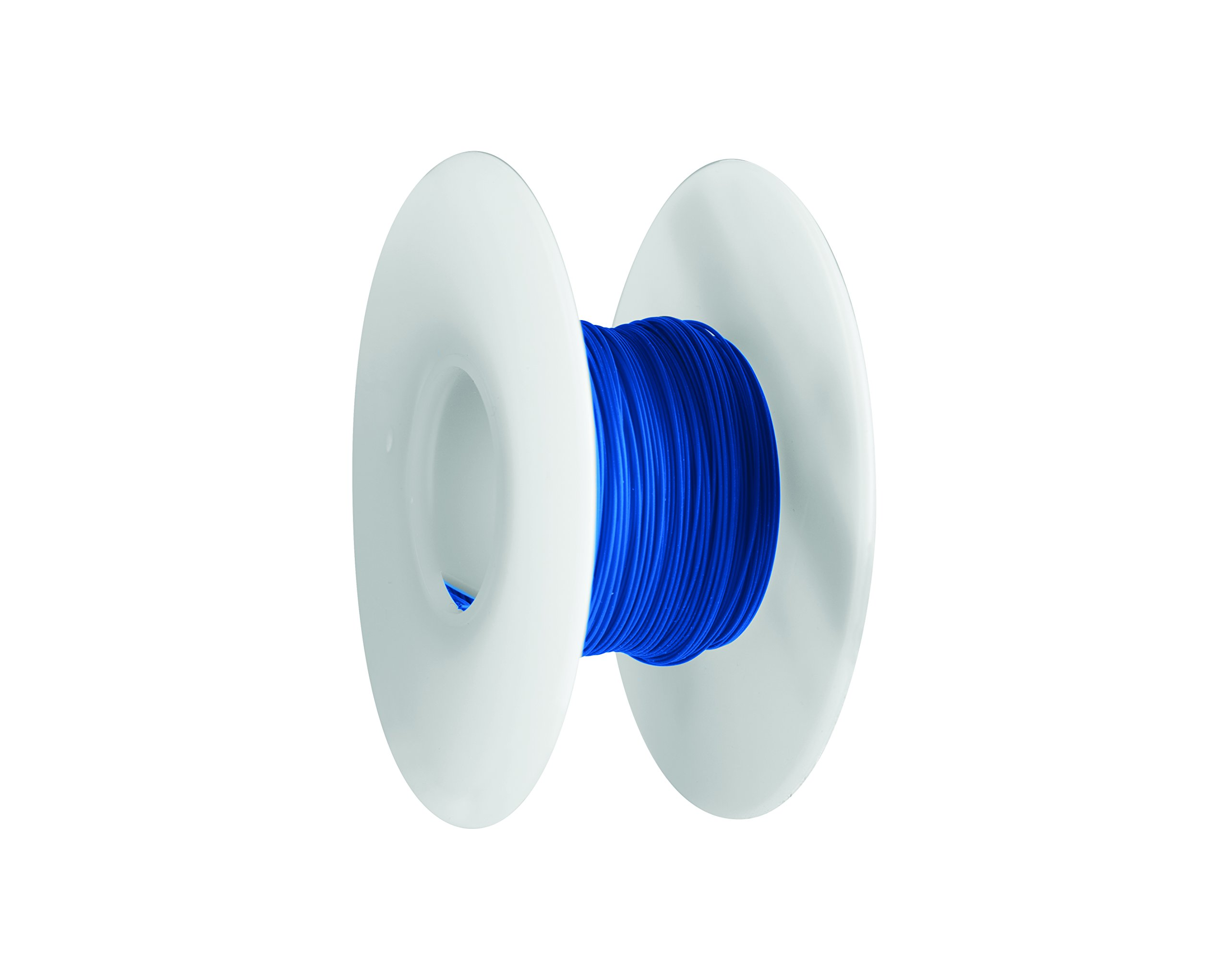 Jonard R26B-0100 Kynar Insulated Silver Plated Copper Wire, 26 AWG Wire Size, 0.027'' Insulation Diameter, 100' Length, Blue