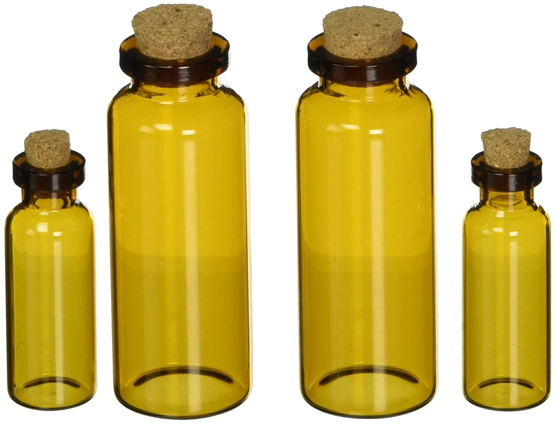 Prima Marketing Memory Hardware Vials-Montpellier 4/Pkg Amber Apothecary 4/Pkg Vials-Montpellier 953b50
