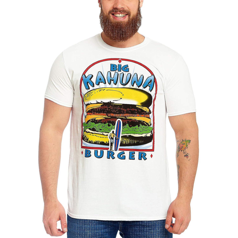 Deadpool Maglietta da Uomo Pulp Fiction Big Kahuna Burger Logo Cotone Bianco