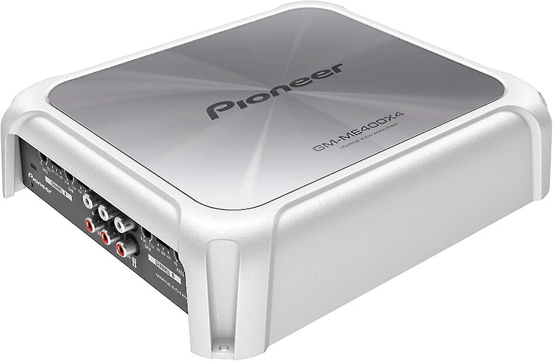 Red Pioneer 4-Channel 60 Watts RMS Bridgeable Amplifier w// Bass Boost Black
