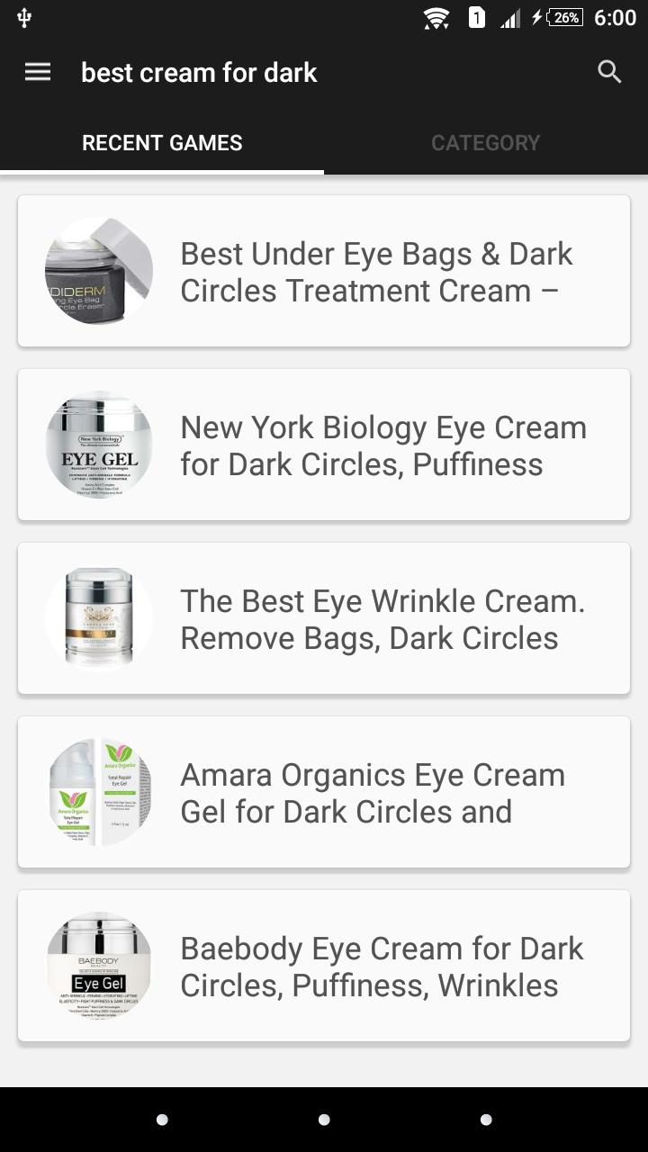 best cream for dark circles under eyes