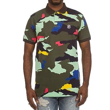 afd9984c3 Amazon.com  Billionaire Boys Club BB Camo Short Sleeve Polo in Hemlock  881-9308  Clothing