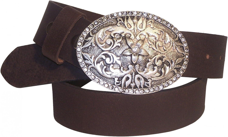 XXL. EU115 Mint Fronhofer Guertelmanufaktur Womens Genuine Leather Rivet Skinny Belt .78 Wide 45.5