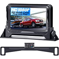 Rohent R1 HD 1080P Backup Camera and Monitor Kit 2021 Version Two Channels License Plate Hitch Camera for Cars Trucks…