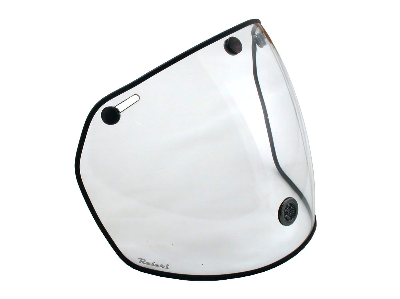 Raleri AIRSTREAM Visiera Universale per caschi 3 Bottoni Crystal Clear/Trasparente ANTIFOG per casco Café Racer e Custom