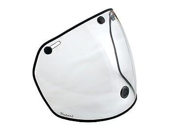 Raleri Airstream - Visera universal para cascos de 3botones, transparente y antivaho,