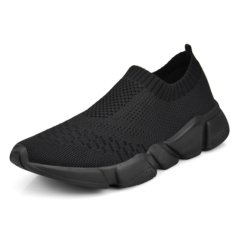 Mxson Women's Slip On Sneaker Mesh Loafer Casual Beach Street Sports Walking Shoes (New Size Version) B07DHP6Z4Z 8 B(M) US|All Black