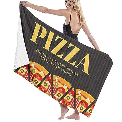 b4587f7b9a Amazon.com  Thigh Gap Three Slices Pizza Same Thing Prints Bath ...