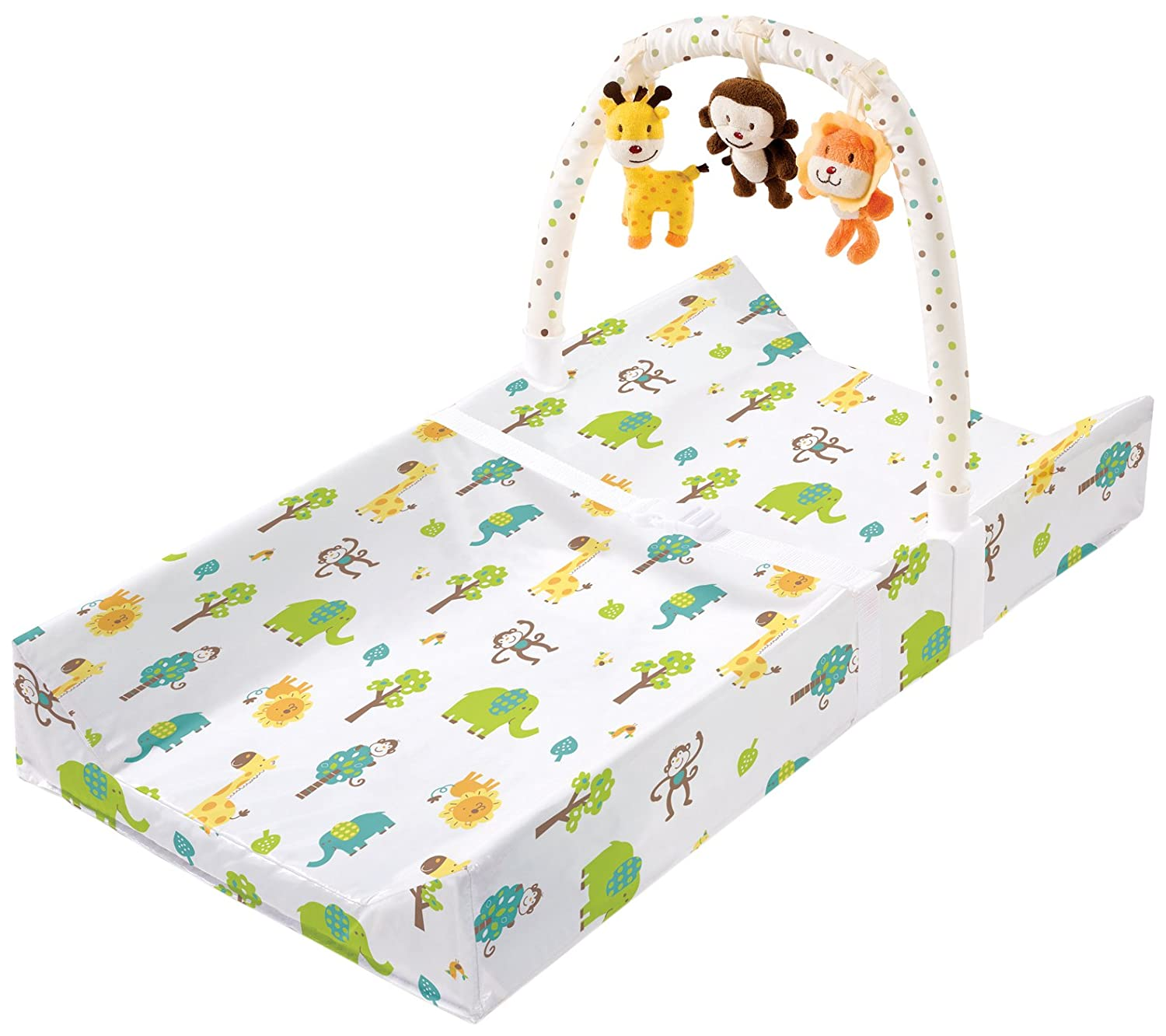 Amazoncom Summer Infant Change Pad with Toybar Safari Fun