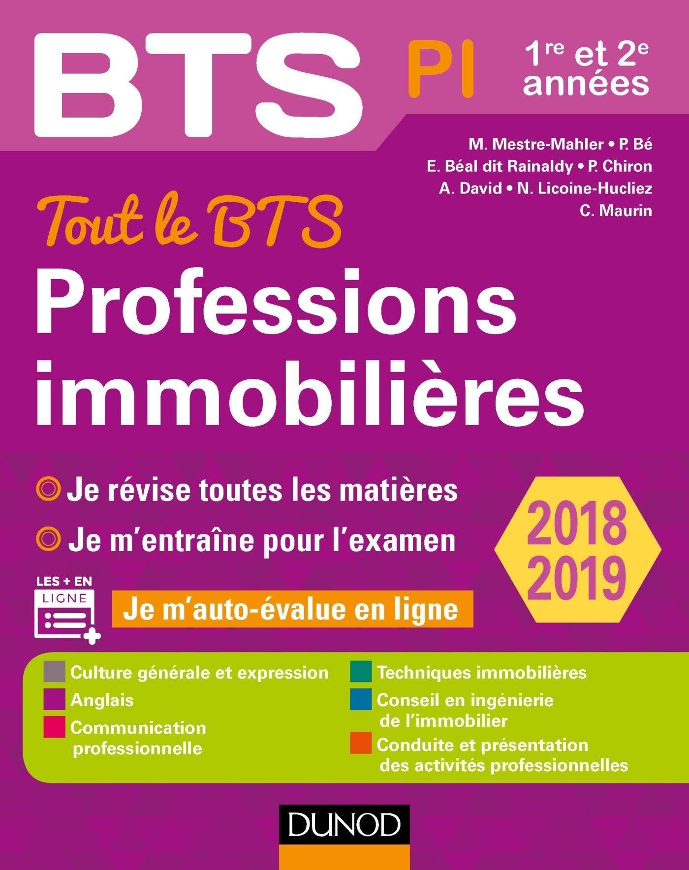 Tout le BTS Professions immobilières - 2018-2019 - 1re et 2e ...