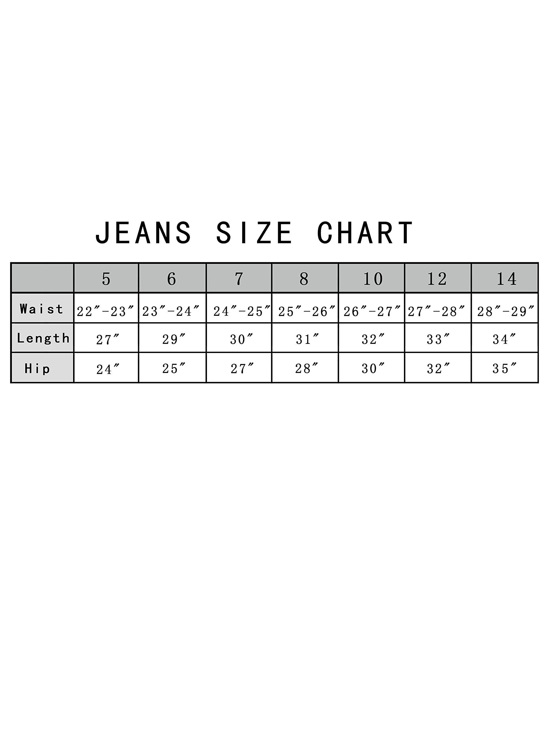 Girls Fashion Skinny Fit Jeans Distressed Ripped Hole Denim Pants White 7t by GALMINT (Image #7)