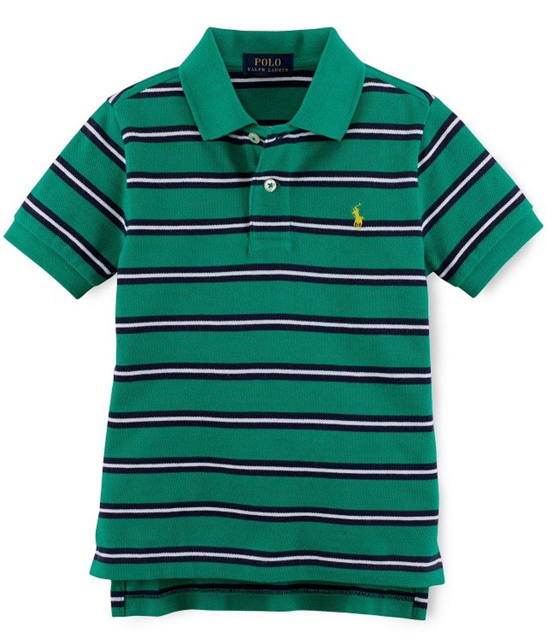 Ralph Lauren Boys' Basic Mesh Polo (3/3T, Green Multi)