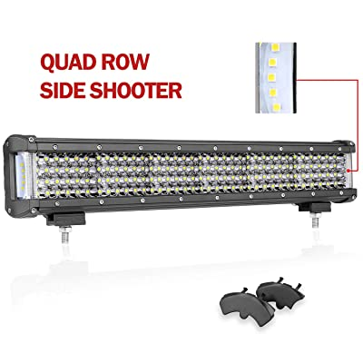 18 Inch LED Light Bar, Wayup 308W Quad Row Side Shooter LED Driving Light Off Road Light Bar Spot Flood Combo Light Work Light Fog Light for Trucks, Jeep, ATV, UTV, 4x4, Wrangle, Boat: Automotive