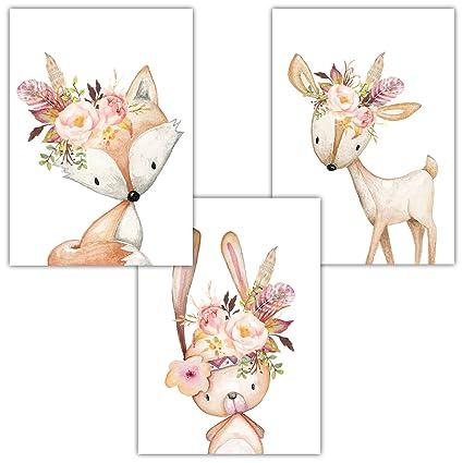 Wonderful Frechdax® 3er Set Kinderzimmer Babyzimmer Poster Bilder DIN A4 | Mädchen  Junge Deko | Dekoration