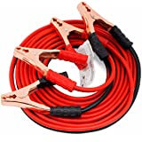 Amikan Car Heavy Duty Auto Jumper Cable Battery Booster Wire Clamp with Alligator Wire, 2.21m/500 Amp (A-03)