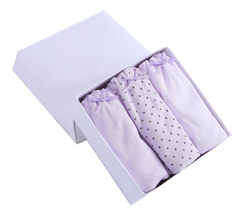 Maylife Cotton Girls 1.5T-12T Underwear 3 Pack Briefs /& Bikini Shorts Boyshort 11 Patterns