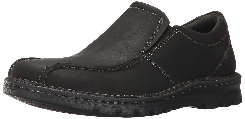 Black Leather Clarks Men's Vanek Step Loafer