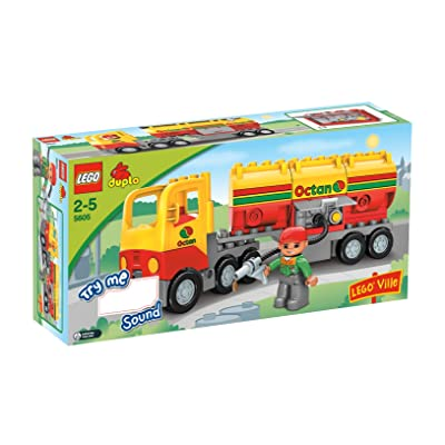 LEGO Duplo Ville Series # 5605 : Tanker Truck Set with Driver Minifigure: Toys & Games