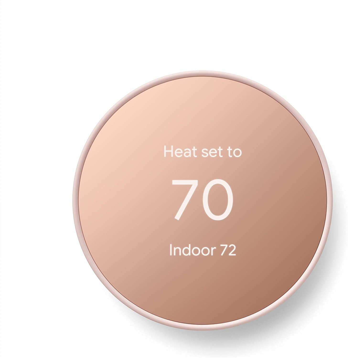 Google Nest Thermostat - Smart Thermostat for Home - Programmable Wifi Thermostat - Sand