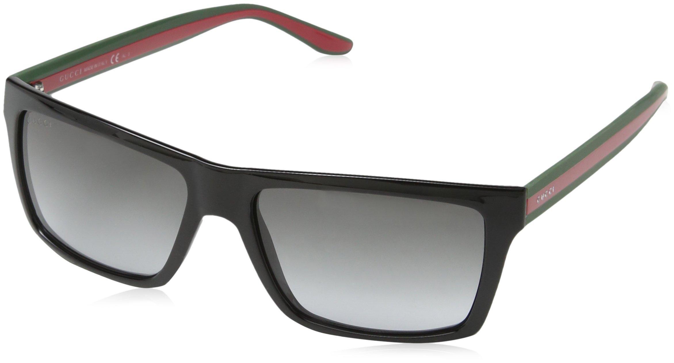Gucci Men's GG 1013/S Shiny Black/Grey Gradient