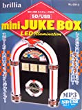mini JUKE BOX LED イルミネーションスピーカー SD/USB MP3対応 iPhone ipad imac