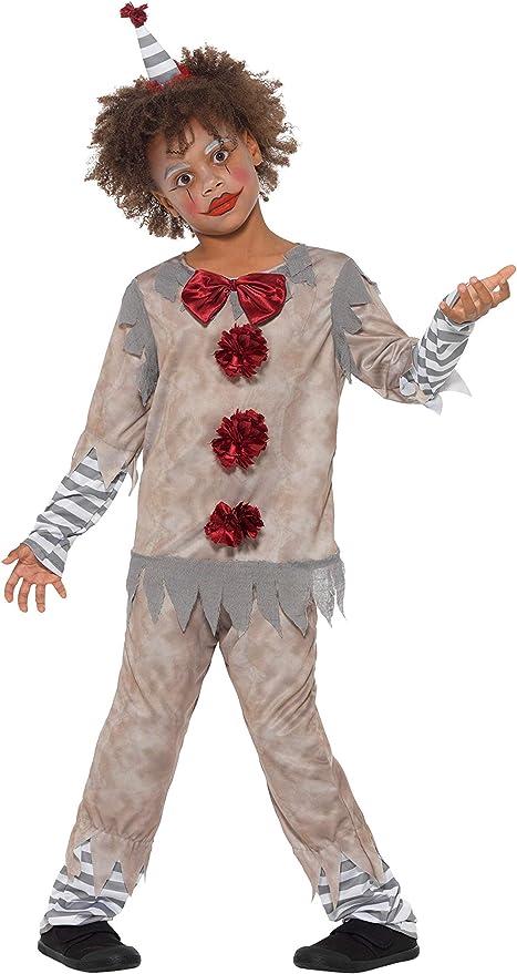 Smiffys Clown Boy Costume Disfraz de payaso vintage, color gris y ...