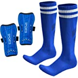 AIMISICAR Soccer Shin Guards Kids Youth, Shin Pads and Shin Guard Sleeves for 3-15 Years Old Boys and Girls for Football Game