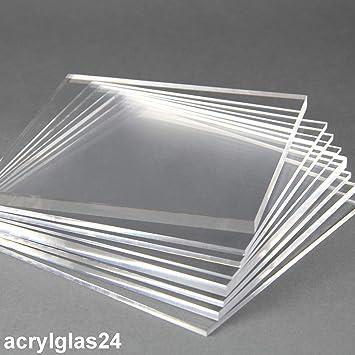Acryl-Zuschnitt//Plexiglas-Platte transparent 3mm XT 40 x 25 cm