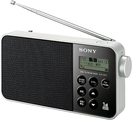Amazon | ソニー ラジオ XDR-55TV : FM/AM/ワンセグTV音声対応 ...