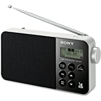 ソニー SONY ラジオ XDR-55TV : FM/AM/ワンセグTV音声対応 おやすみタイマー搭載 乾電池対応 ブラック XDR-55TV B